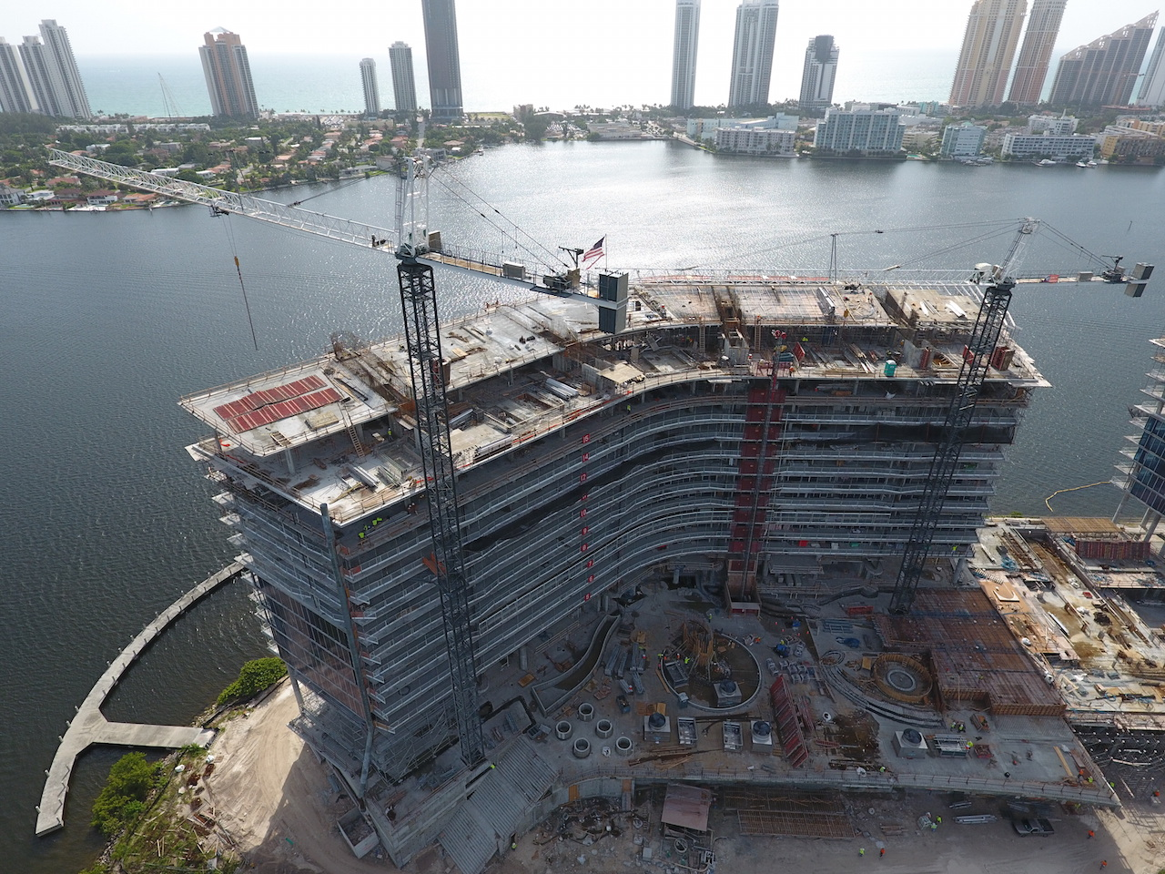 prive at island estates construction progress
